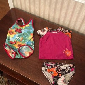 6 -12 M Old  Navy and Tommy Hilfiger Bathing suit